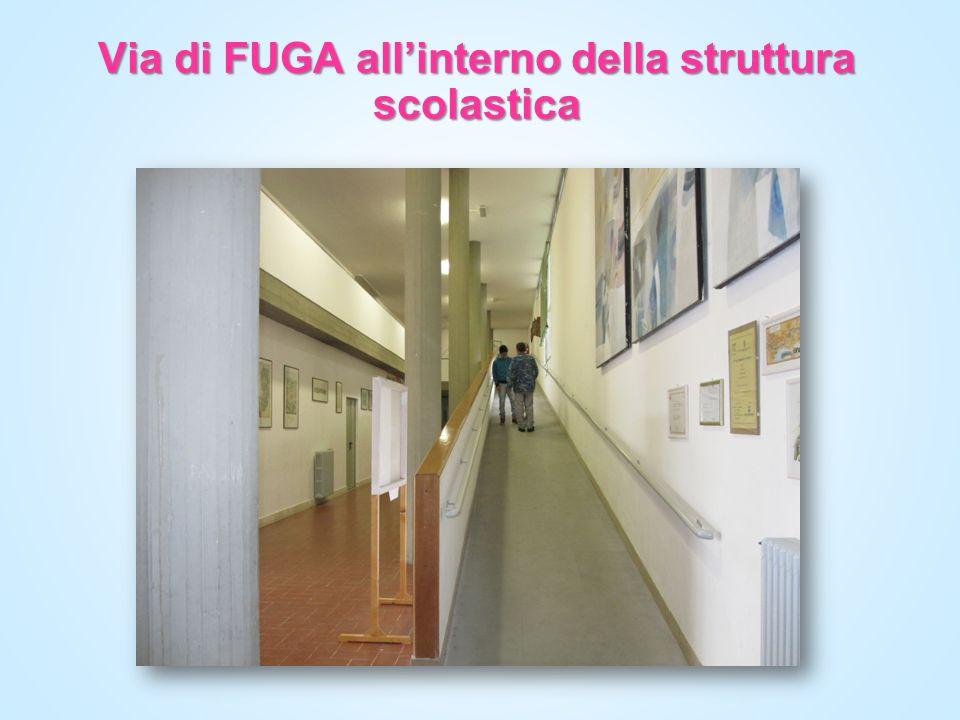 Via di FUGA allinterno della struttura scolastica