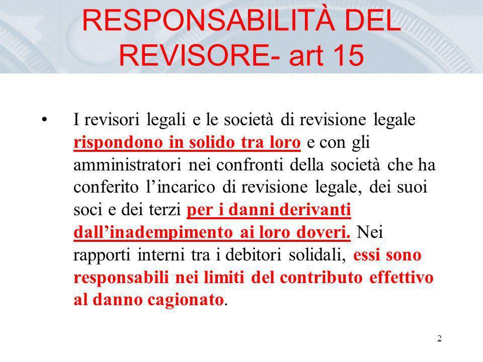 13 Reati in revisione : art 31 1.
