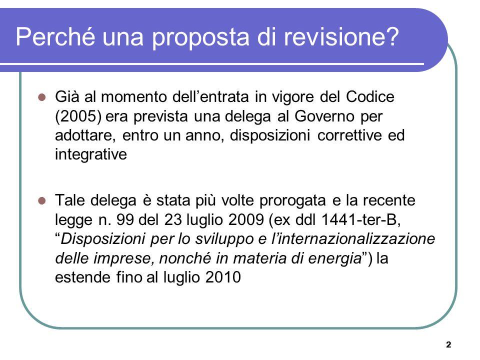 2 Perché una proposta di revisione.