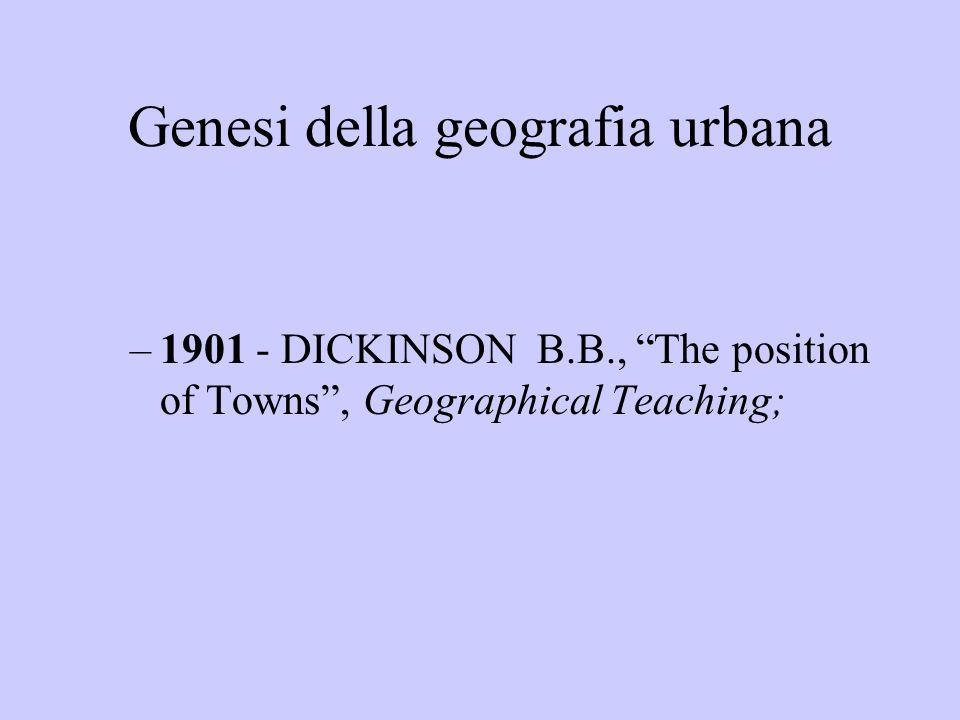 Geografia urbana in Italia Linteresse nasce alla fine degli anni Venti e si consolida nel corso degli anni Trenta contributi di : Gribaudi Roletto Cumin Almagià Sestini Toschi