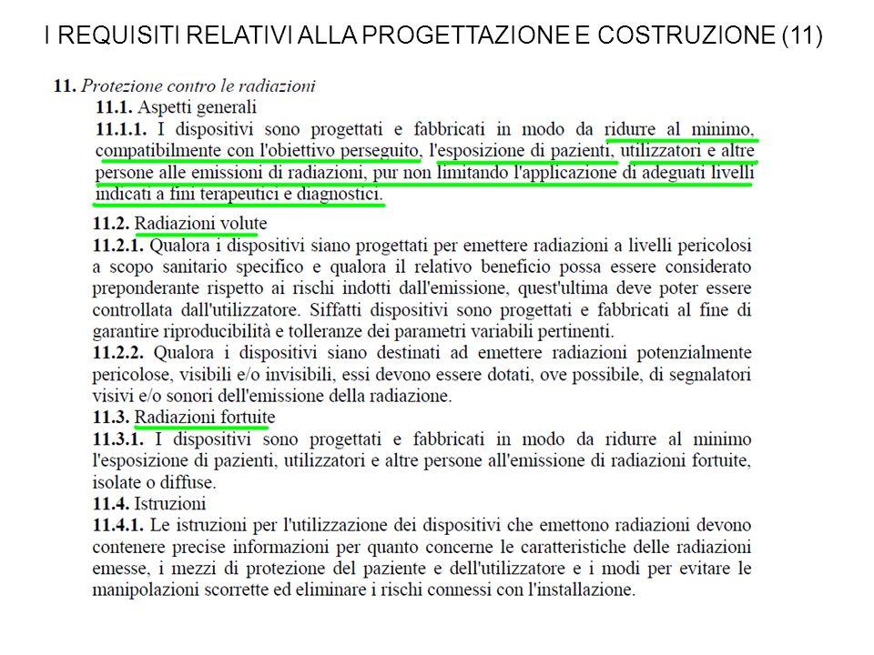 I REQUISITI RELATIVI ALLA PROGETTAZIONE E COSTRUZIONE (11)