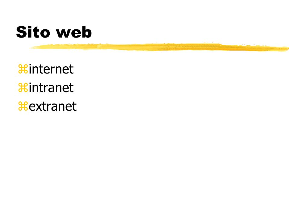 Sito web internet intranet extranet