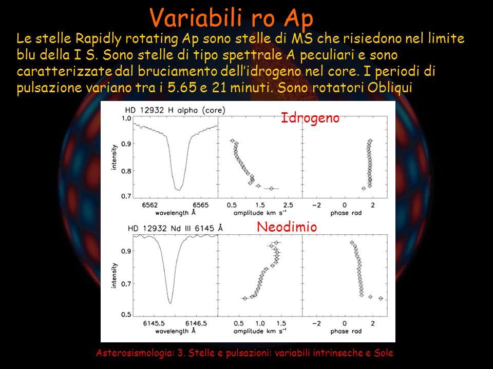 Asterosismologia: 3. Stelle e pulsazioni: variabili intrinseche e Sole Sole e stelle di tipo solare