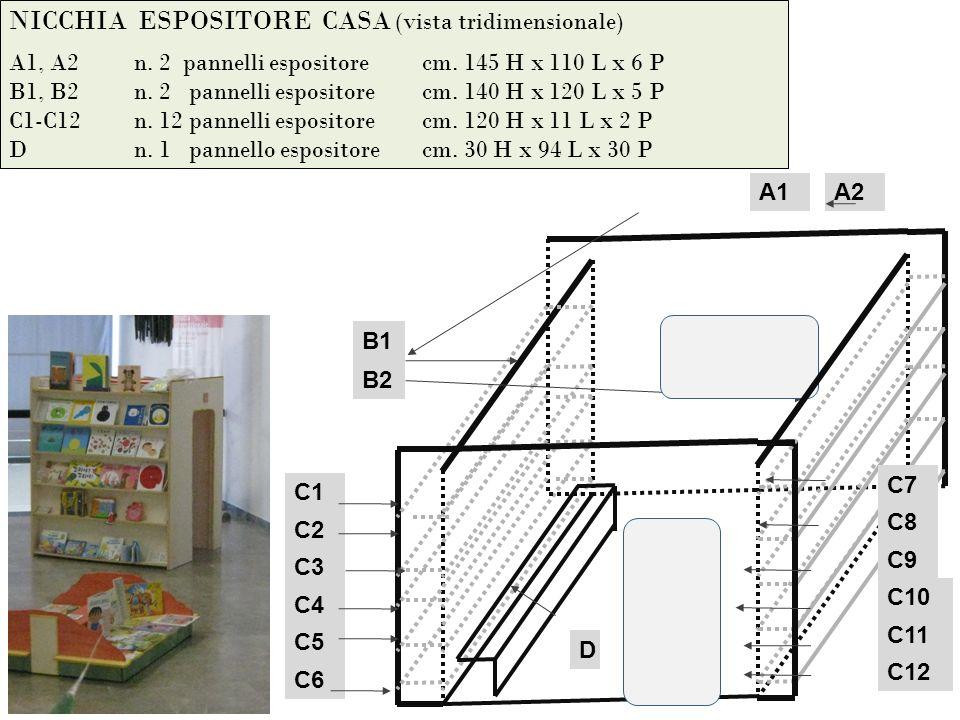 NICCHIA ESPOSITORE CASA (vista tridimensionale) A1, A2 n.