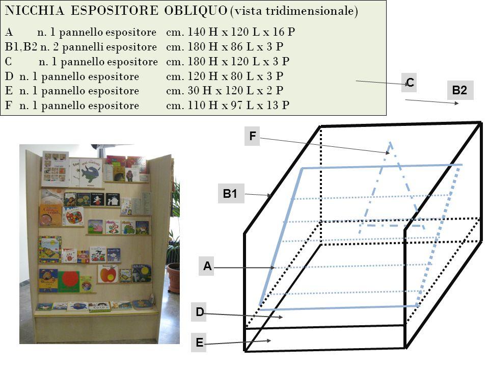 NICCHIA ESPOSITORE OBLIQUO (vista tridimensionale) A n.