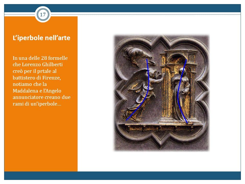 Liperbole nellarte In una delle 28 formelle che Lorenzo Ghilberti creò per il prtale al battistero di Firenze, notiamo che la Maddalena e lAngelo annu