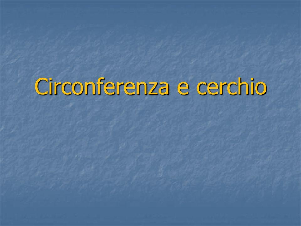 Definizione di circonferenza Si definisce circonferenza il luogo geometrico dei punti del piano equidistanti da un punto detto centro della circonferenza