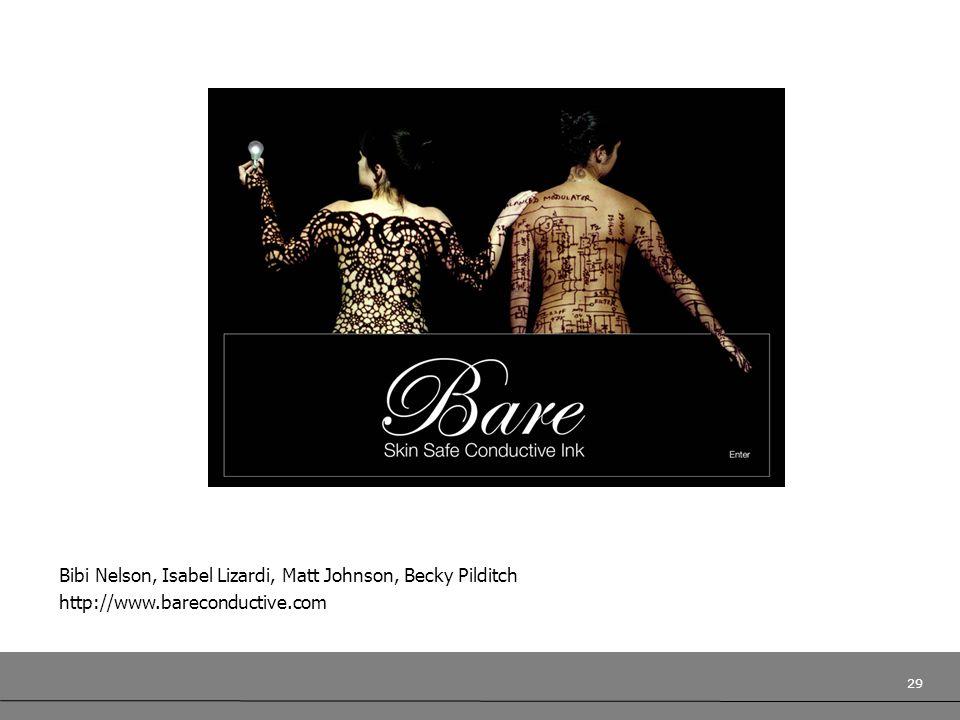29 Bibi Nelson, Isabel Lizardi, Matt Johnson, Becky Pilditch http://www.bareconductive.com