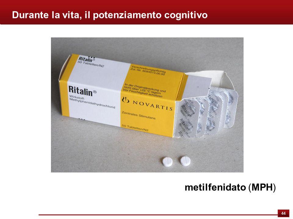 44 Durante la vita, il potenziamento cognitivo metilfenidato (MPH)