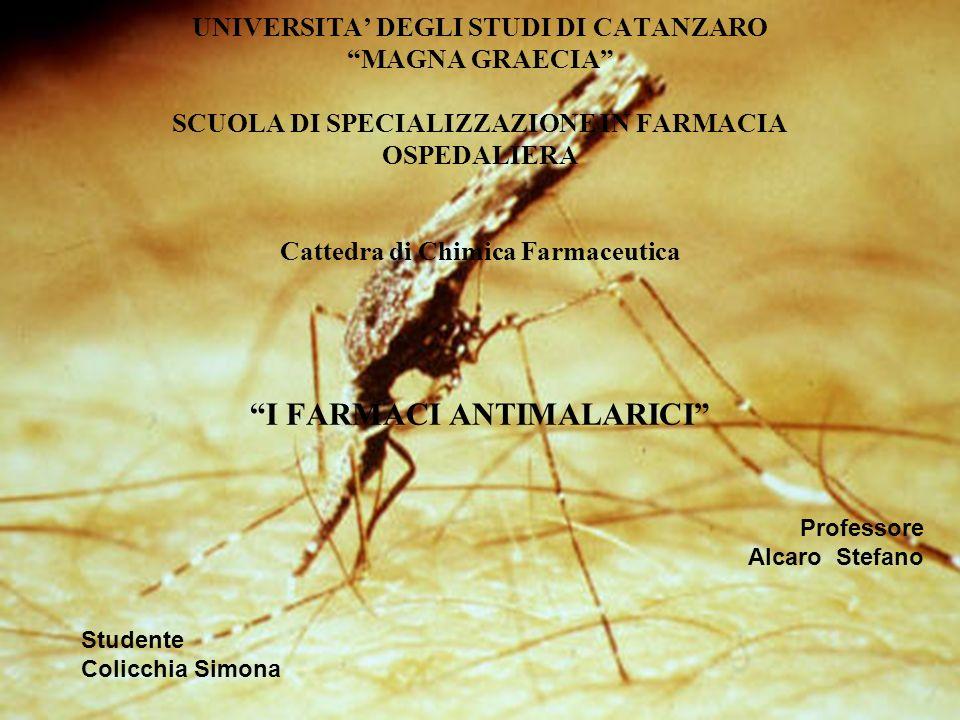 UNIVERSITA DEGLI STUDI DI CATANZARO MAGNA GRAECIA SCUOLA DI SPECIALIZZAZIONE IN FARMACIA OSPEDALIERA Cattedra di Chimica Farmaceutica I FARMACI ANTIMA