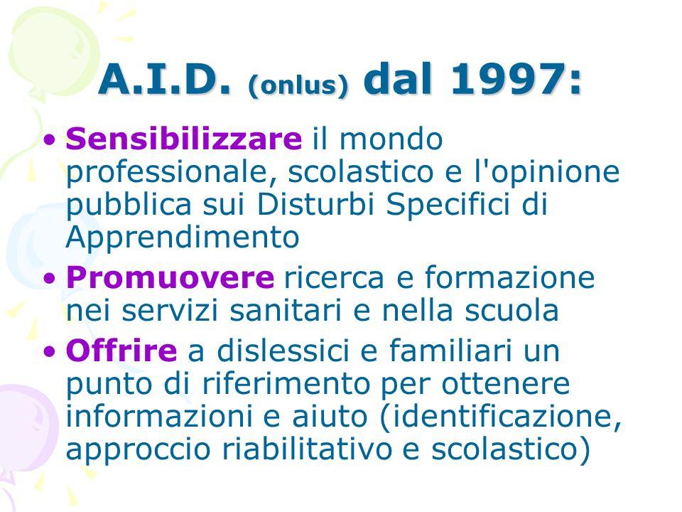 L'Associazione è formata da 3 Componenti: Problematiche sociali genitori e dislessici che abbiano raggiunto la maggiore età Scuola insegnanti ed educa