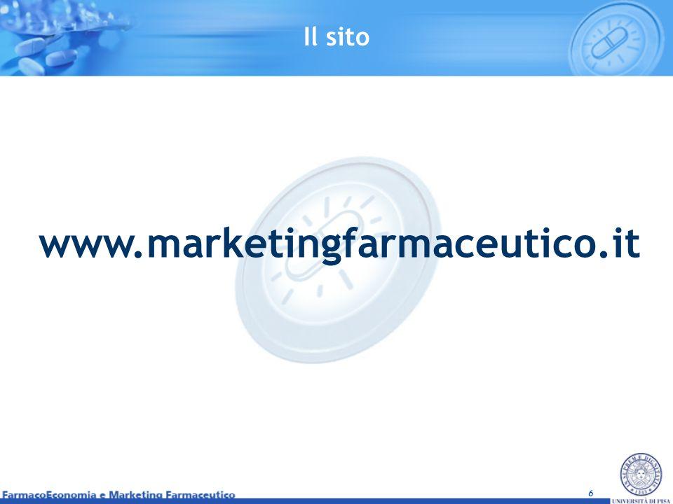 6 www.marketingfarmaceutico.it Il sito