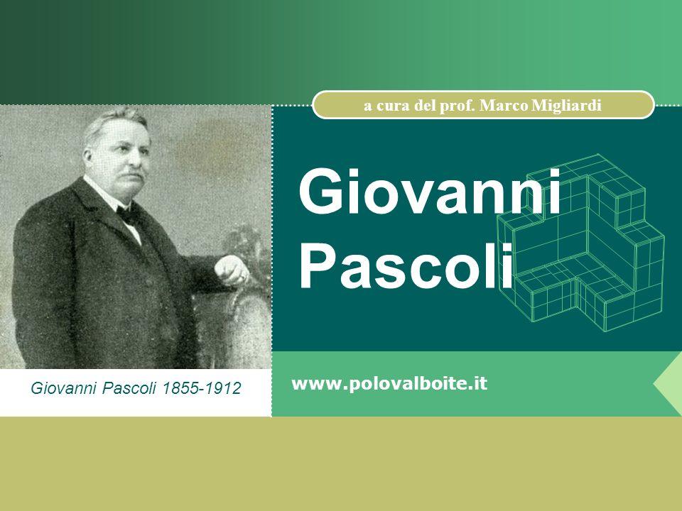 Giovanni Pascoli 1855-1912 Giovanni Pascoli www.polovalboite.it a cura del prof. Marco Migliardi