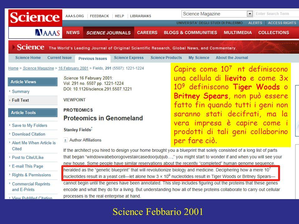 JOE SUTLIFF Stanley Fields: Proteomics in Genomeland, Science 291, 1221, (2001).