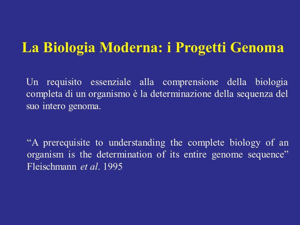 Un requisito essenziale alla comprensione della biologia completa di un organismo è la determinazione della sequenza del suo intero genoma. A prerequi