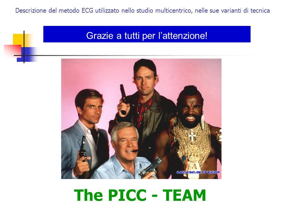 Grazie a tutti per lattenzione! The PICC - TEAM Descrizione del metodo ECG utilizzato nello studio multicentrico, nelle sue varianti di tecnica