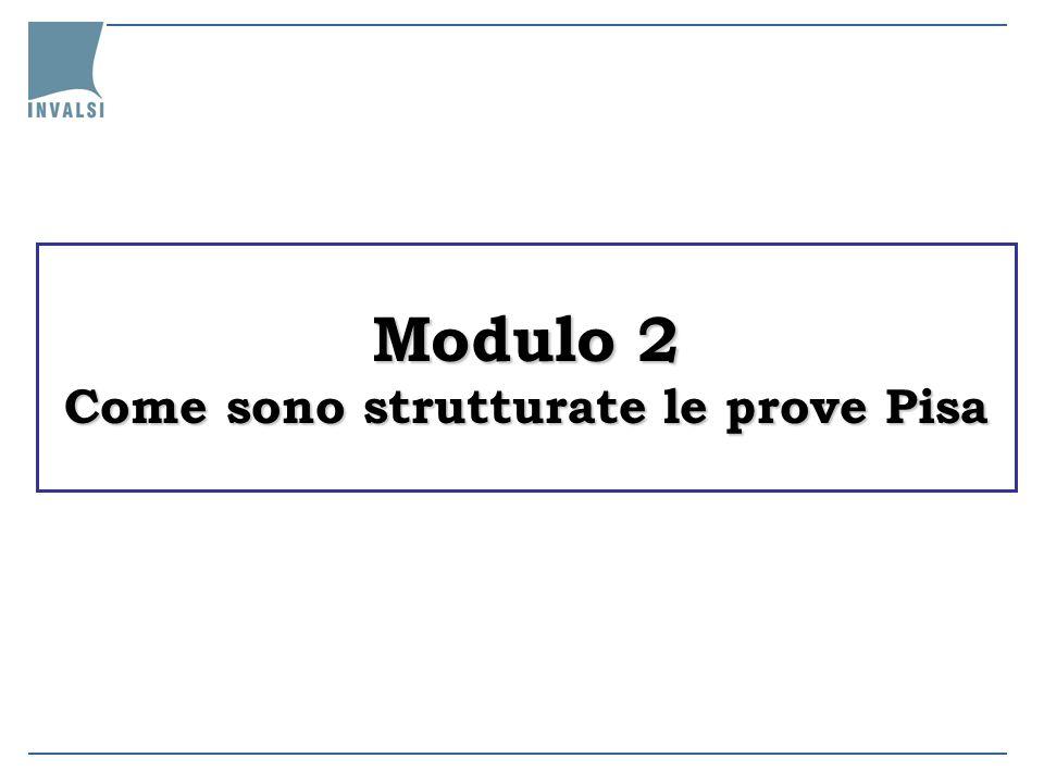 Modulo 2 Come sono strutturate le prove Pisa