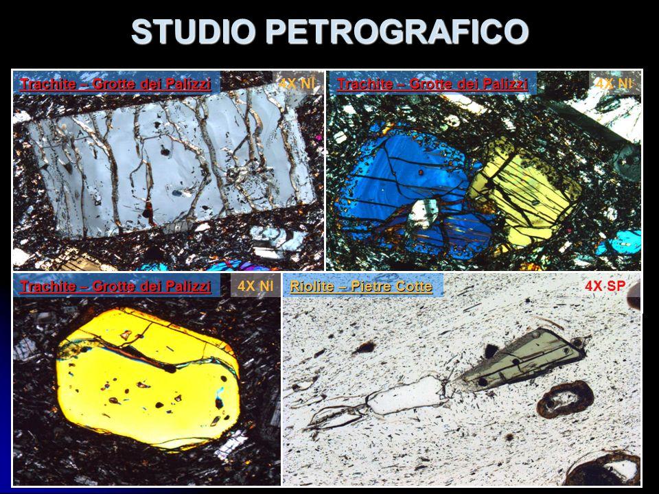 STUDIO PETROGRAFICO Incluso Latitico – Pietre Cotte Blocco Riolitico – Er.