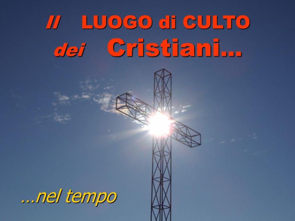 …nel tempo Il LUOGO di CULTO dei Cristiani …