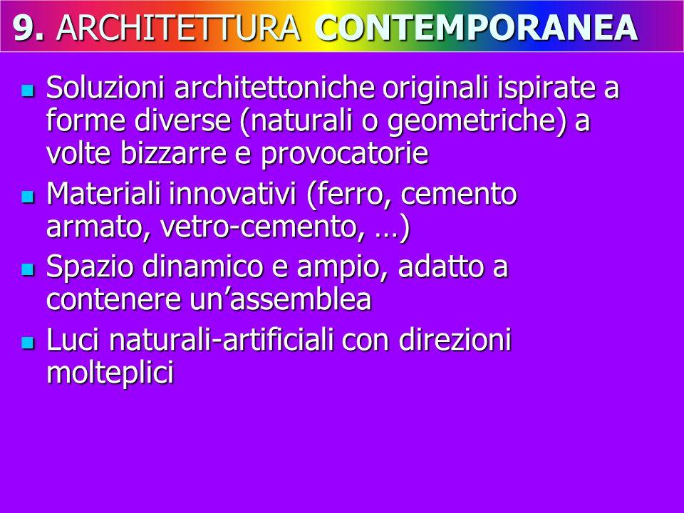 Soluzioni architettoniche originali ispirate a forme diverse (naturali o geometriche) a volte bizzarre e provocatorie Soluzioni architettoniche origin