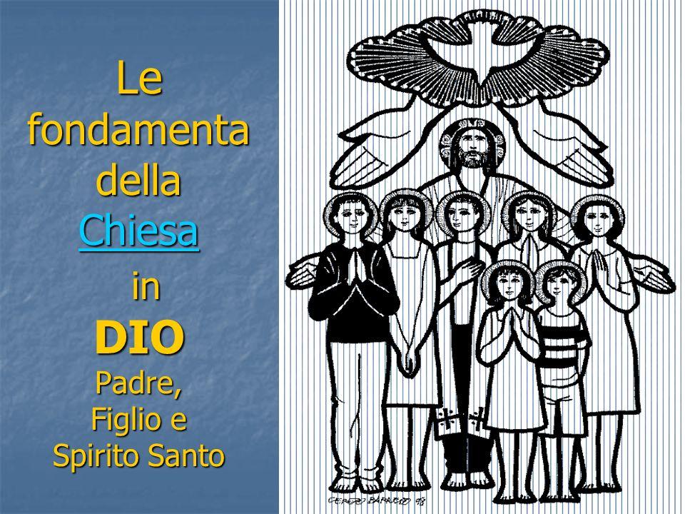 Le fondamenta della Chiesa in DIO Padre, Figlio e Spirito Santo