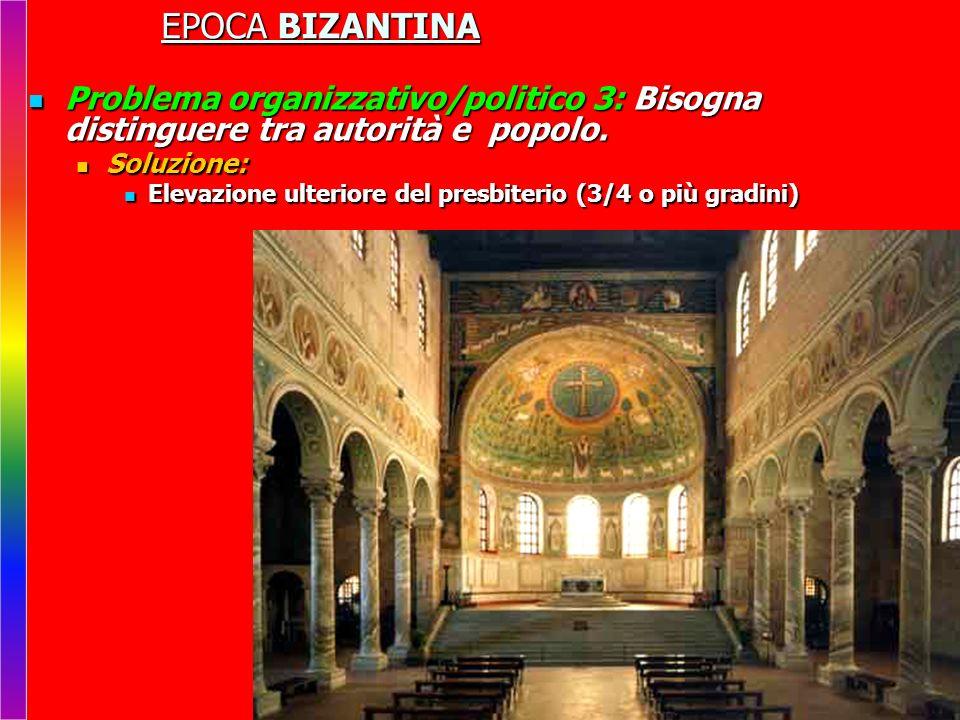 EPOCA BIZANTINA Problema organizzativo/politico 3: Bisogna distinguere tra autorità e popolo.