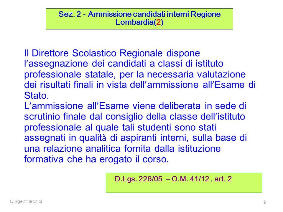 Dirigenti tecnici 50 Sez.4 – Commissioni (7) D.M.