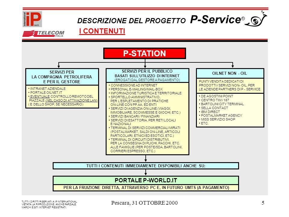 Pescara, 31 OTTOBRE 20005 P-STATION TUTTI I CONTENUTI IMMEDIAMENTE DISPONIBILI ANCHE SU: PORTALE P-WORLD.IT PER LA FRUIZIONE DIRETTA, ATTRAVERSO PC E, IN FUTURO UMTS (A PAGAMENTO) TUTTI I DIRITTI RISERVATI A IP INTERNATIONAL.