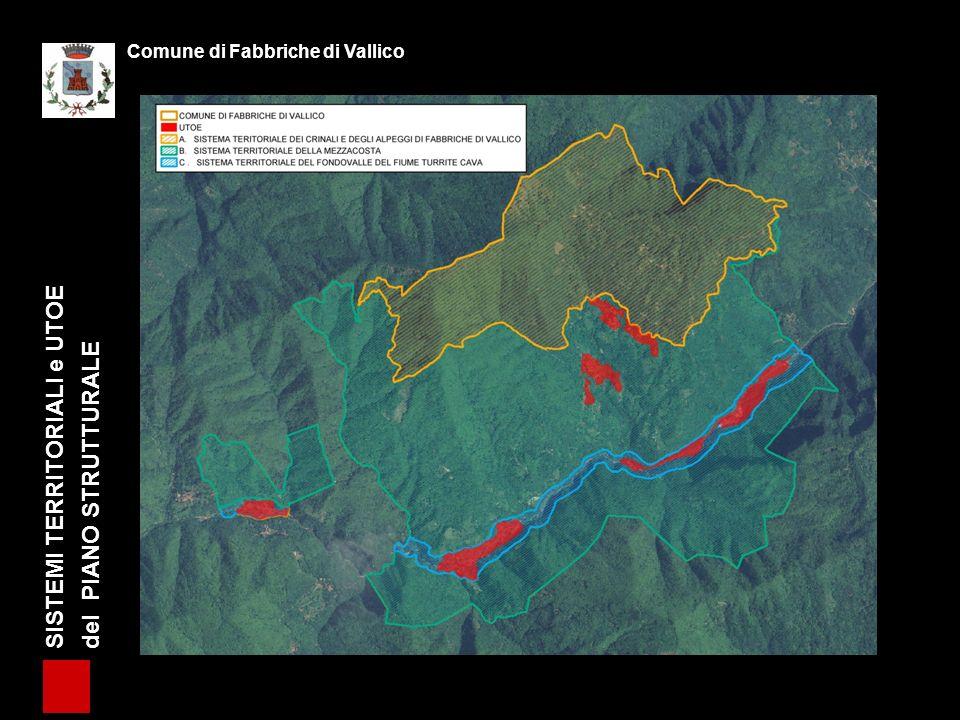 SISTEMI TERRITORIALI e UTOE del PIANO STRUTTURALE Comune di Fabbriche di Vallico