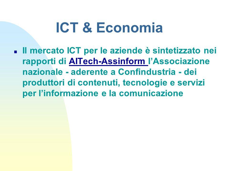 n Il mercato ICT per le aziende è sintetizzato nei rapporti di AITech-Assinform lAssociazione nazionale - aderente a Confindustria - dei produttori di