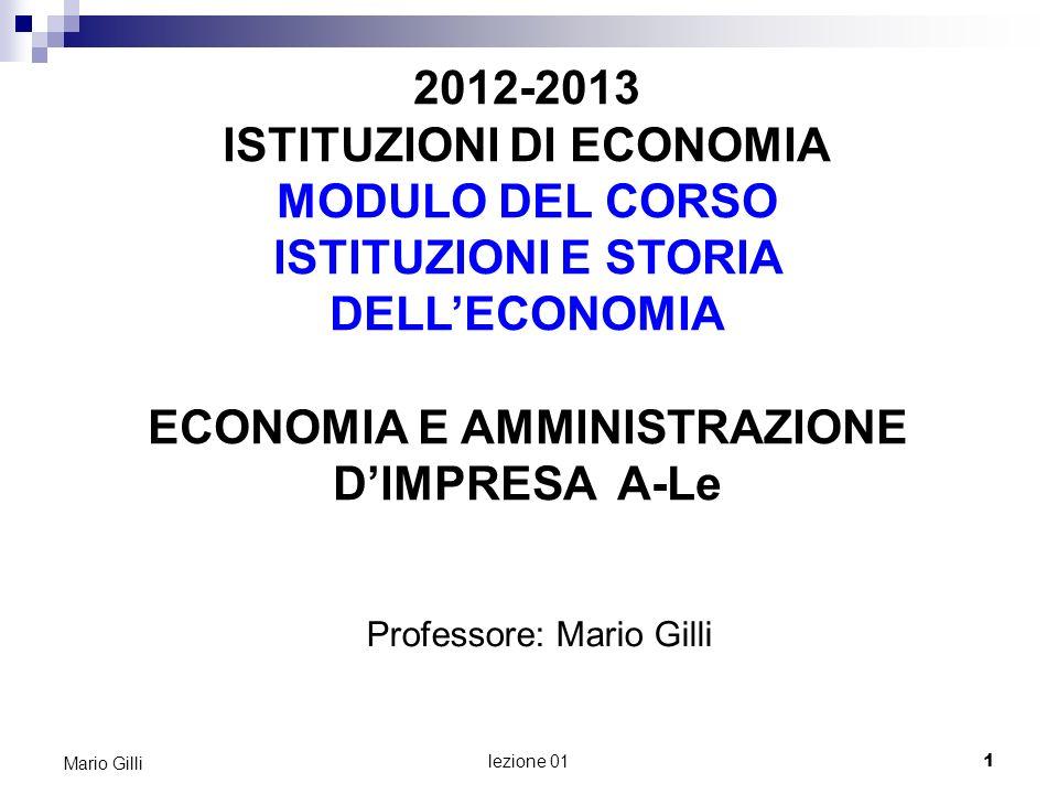 ARGOMENTI DI QUESTA LEZIONE 1.Presentazione del docente e del corso 2.