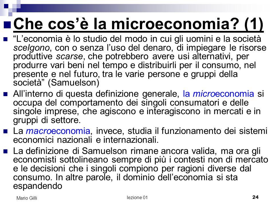 Che cosè la microeconomia.