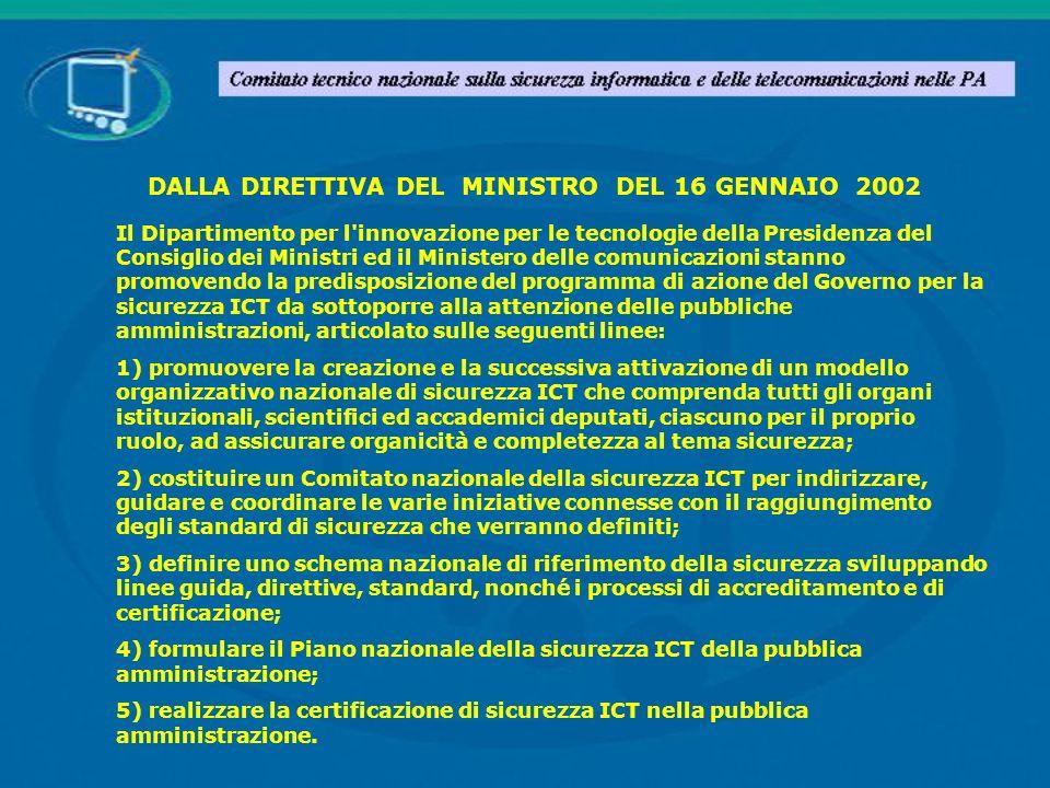 Il Dipartimento per l'innovazione per le tecnologie della Presidenza del Consiglio dei Ministri ed il Ministero delle comunicazioni stanno promovendo