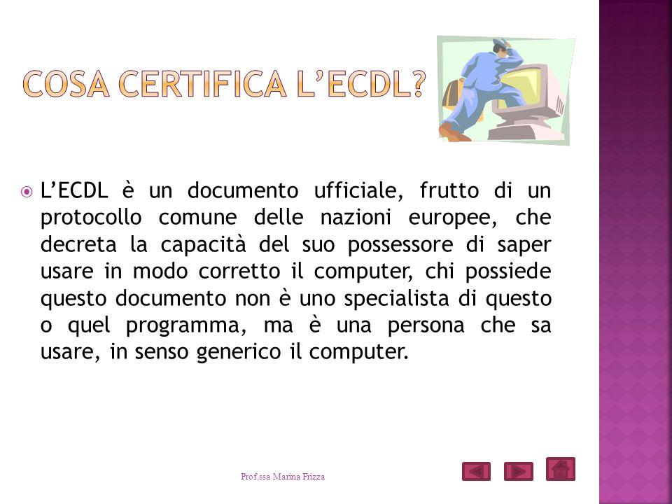 LECDL è un documento ufficiale, frutto di un protocollo comune delle nazioni europee, che decreta la capacità del suo possessore di saper usare in mod
