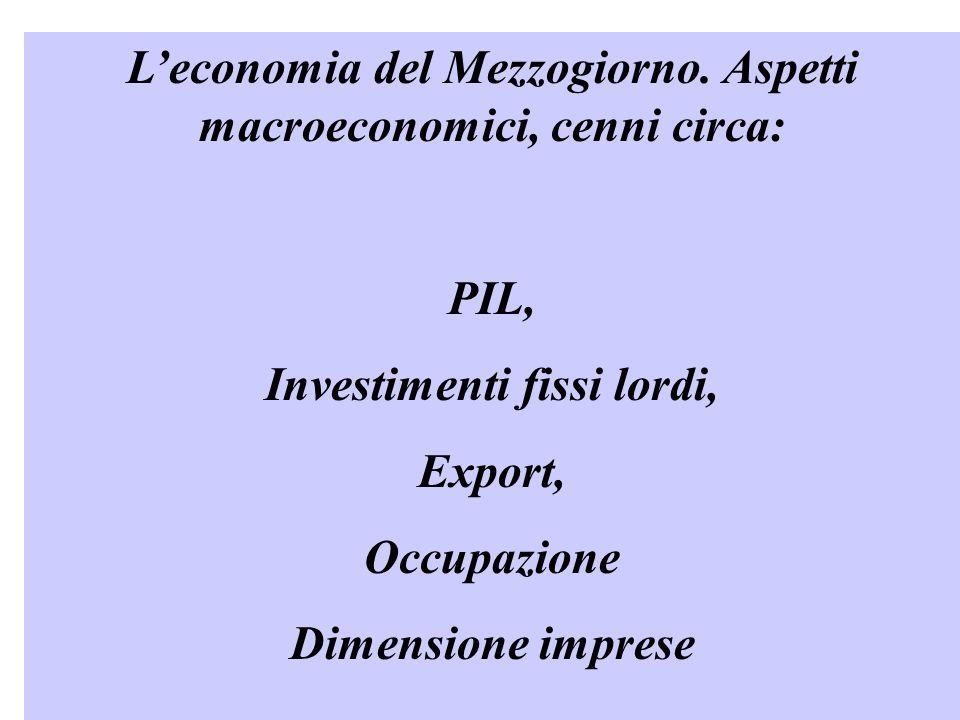 Leconomia del Mezzogiorno.