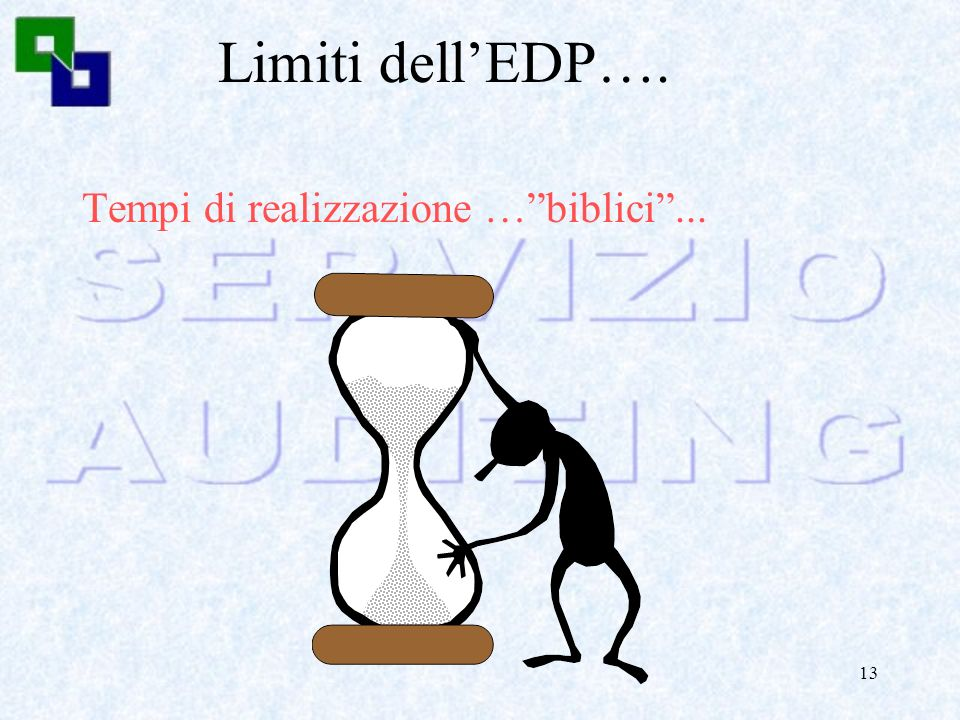 12 Limiti dellEDP…. Necessità di una mediazione…...