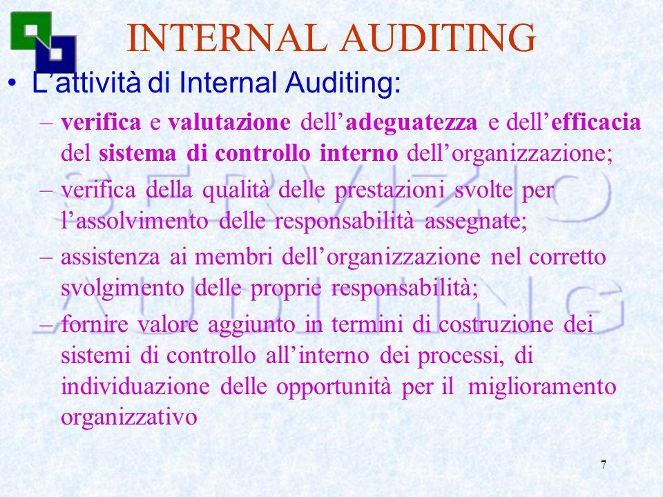6 Sistema di Controllo interno la vitalità di una banca, il suo posizionamento sul mercato ed una sana e prudente gestione … non possono prescindere d