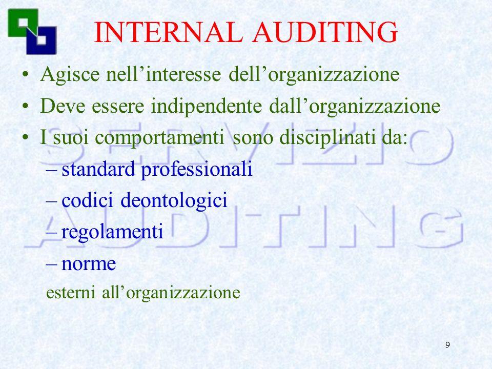 8 INFORMATION SYSTEM AUDITING Necessità di specifiche competenze ed esperienze nella valutazione dei rischi e delle misure a loro presidio laddove: –i