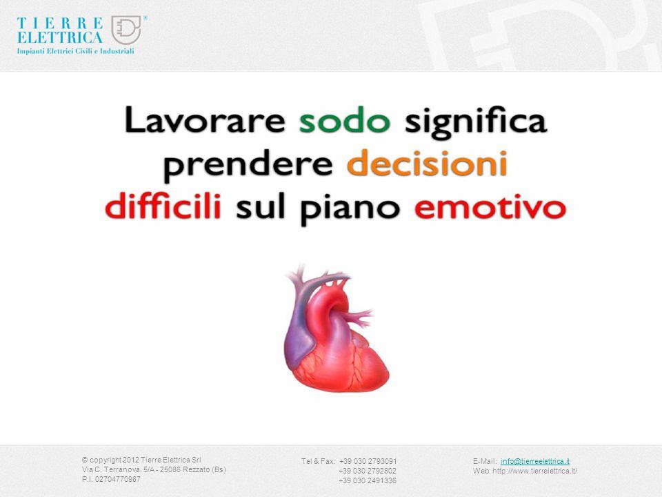 Slide zona scomfort © copyright 2012 Tierre Elettrica Srl Via C. Terranova, 5/A - 25086 Rezzato (Bs) P.I. 02704770987 Tel & Fax: +39 030 2793091 +39 0