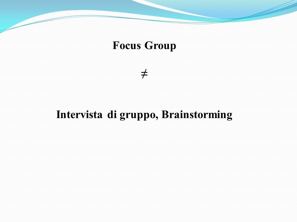 Focus Group Intervista di gruppo, Brainstorming