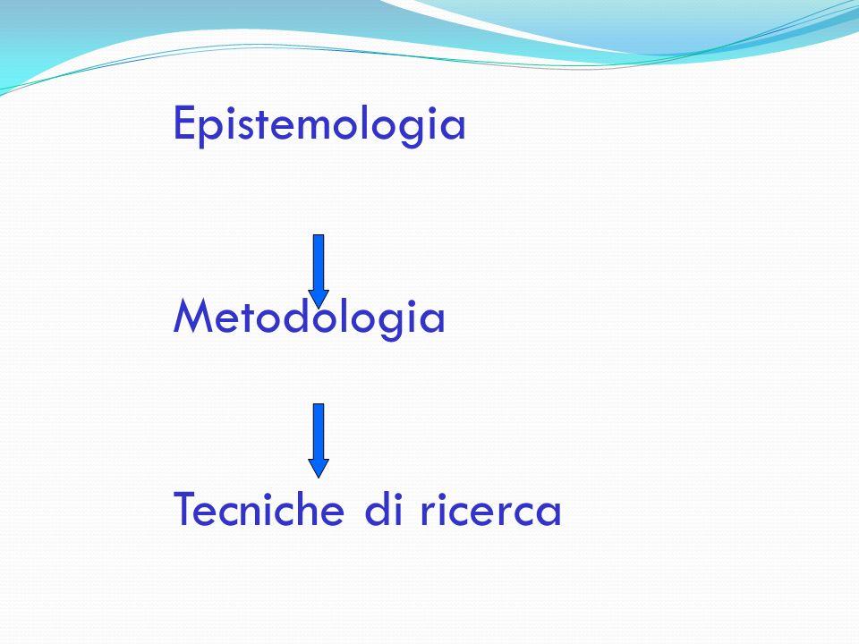 Epistemologia Metodologia Tecniche di ricerca