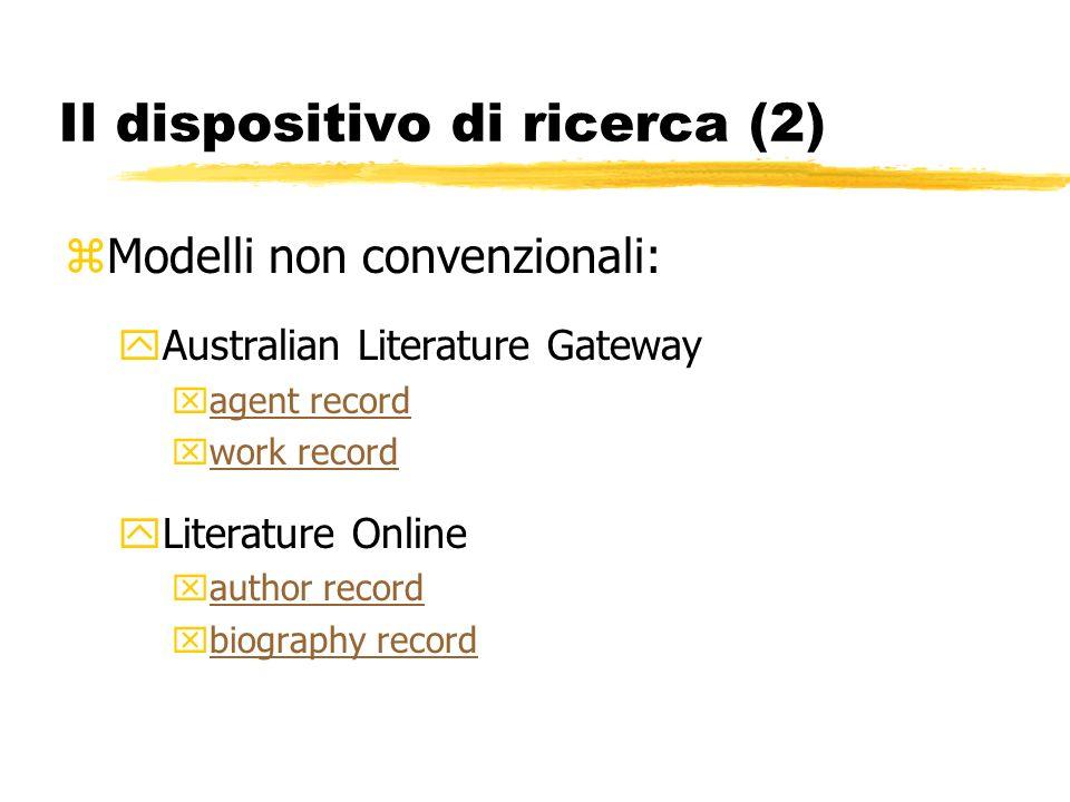 Implementazione di nuovi modelli zFunzione aggregante del record autore- titolo yDante Alighieri.