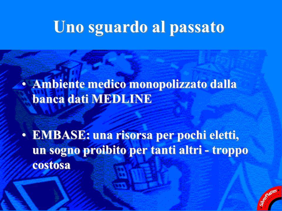 Il paziente lavoro di SilverPlatter Italia Dallautunno del 1997: Mediazione con Elsevier per ottenere prezzi accessibili per i clienti in ItaliaMediazione con Elsevier per ottenere prezzi accessibili per i clienti in Italiarisultato: prezzi di listino ridotti del 45% circaprezzi di listino ridotti del 45% circa Ospedali come Istituzioni AccademicheOspedali come Istituzioni Accademiche