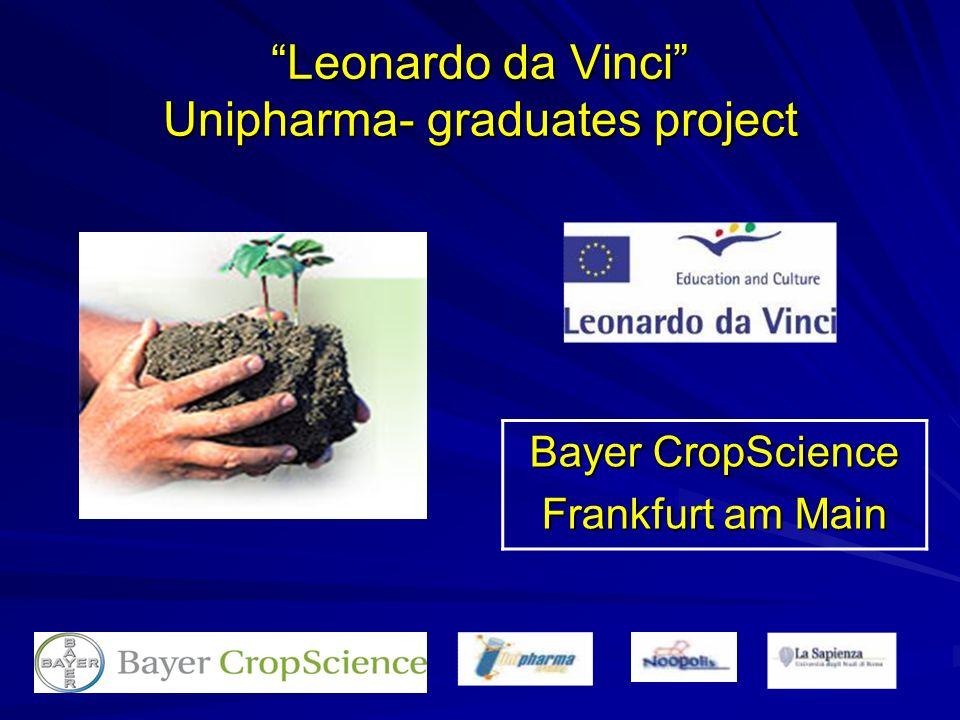 Leonardo da Vinci Unipharma- graduates project Bayer CropScience Frankfurt am Main