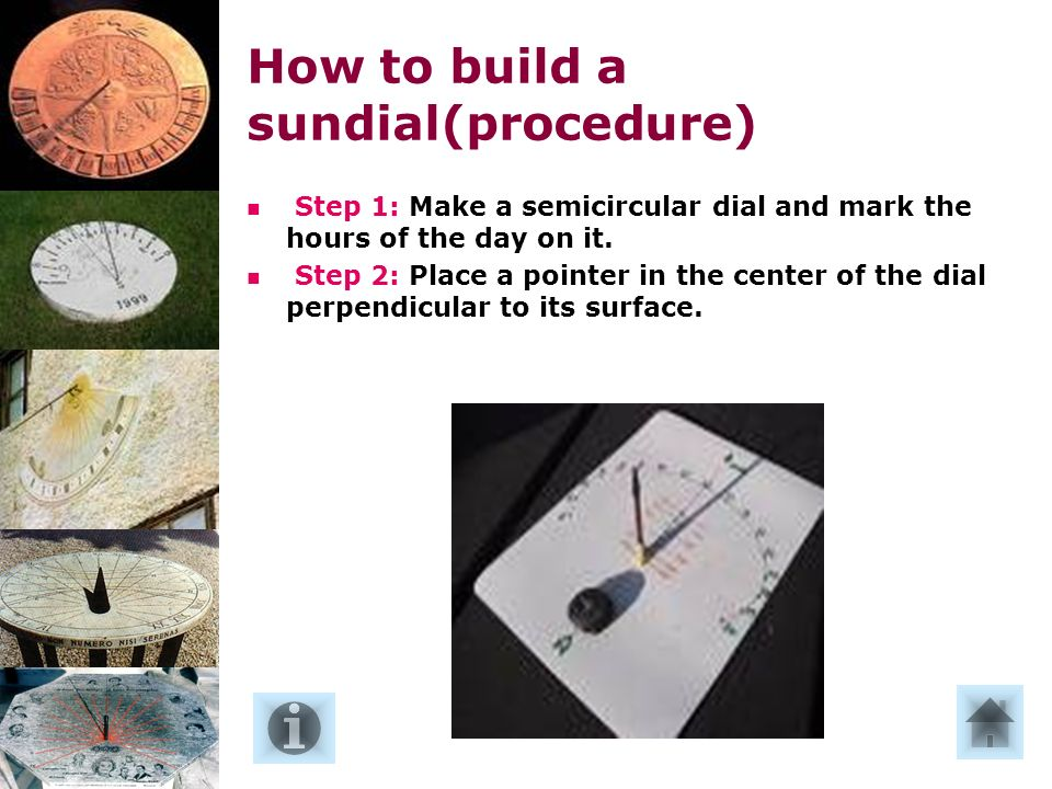 Passo 1: Costruire un quadrante semicircolare su cui segnare le ore del giorno.