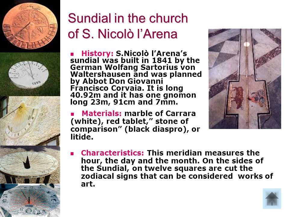 La meridiana di S.Nicolò lArena.