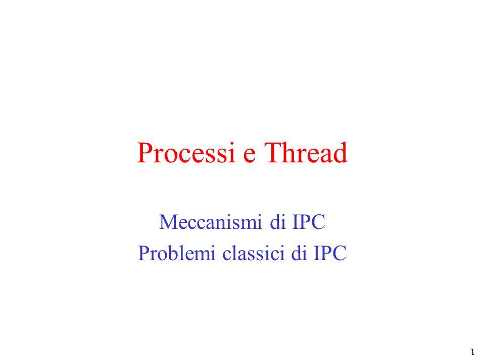 1 Processi e Thread Meccanismi di IPC Problemi classici di IPC