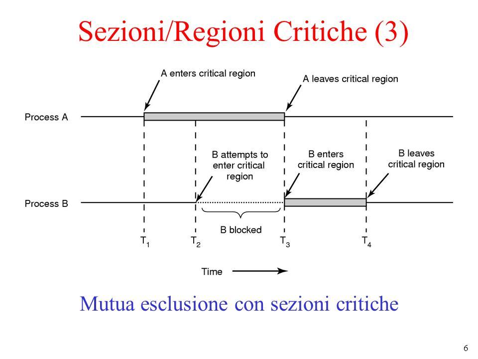 6 Sezioni/Regioni Critiche (3) Mutua esclusione con sezioni critiche