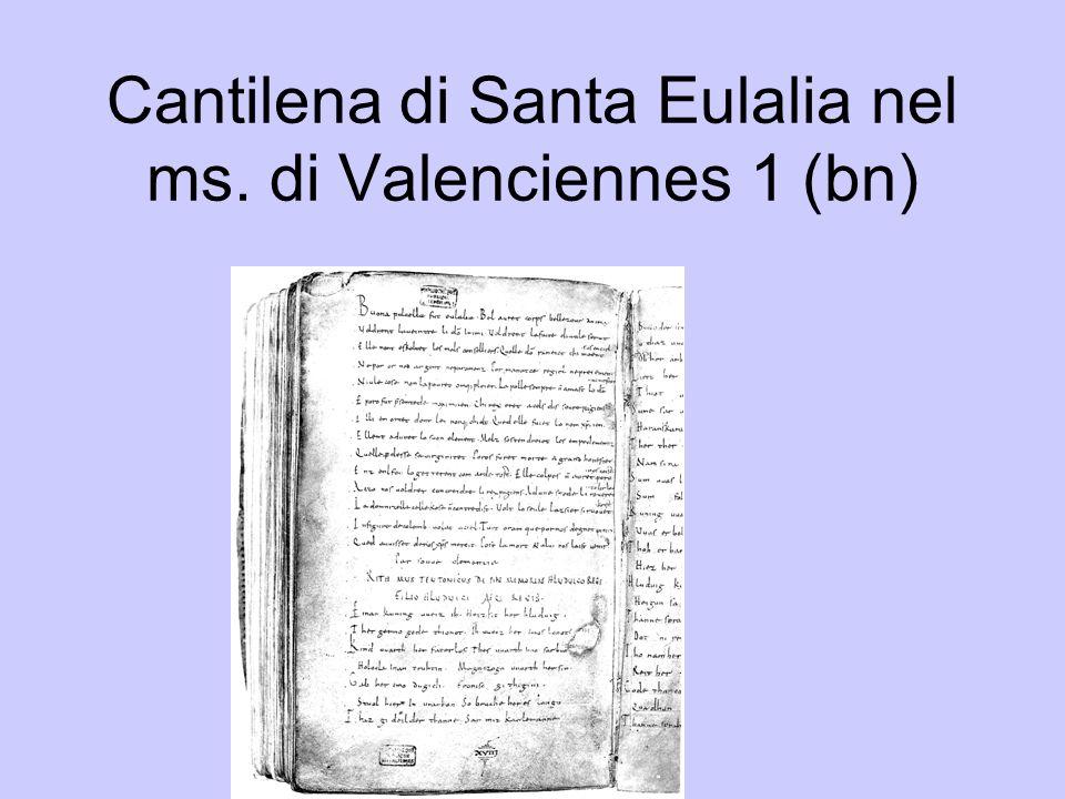 Cantilena di Santa Eulalia nel ms. di Valenciennes 2 (colori)