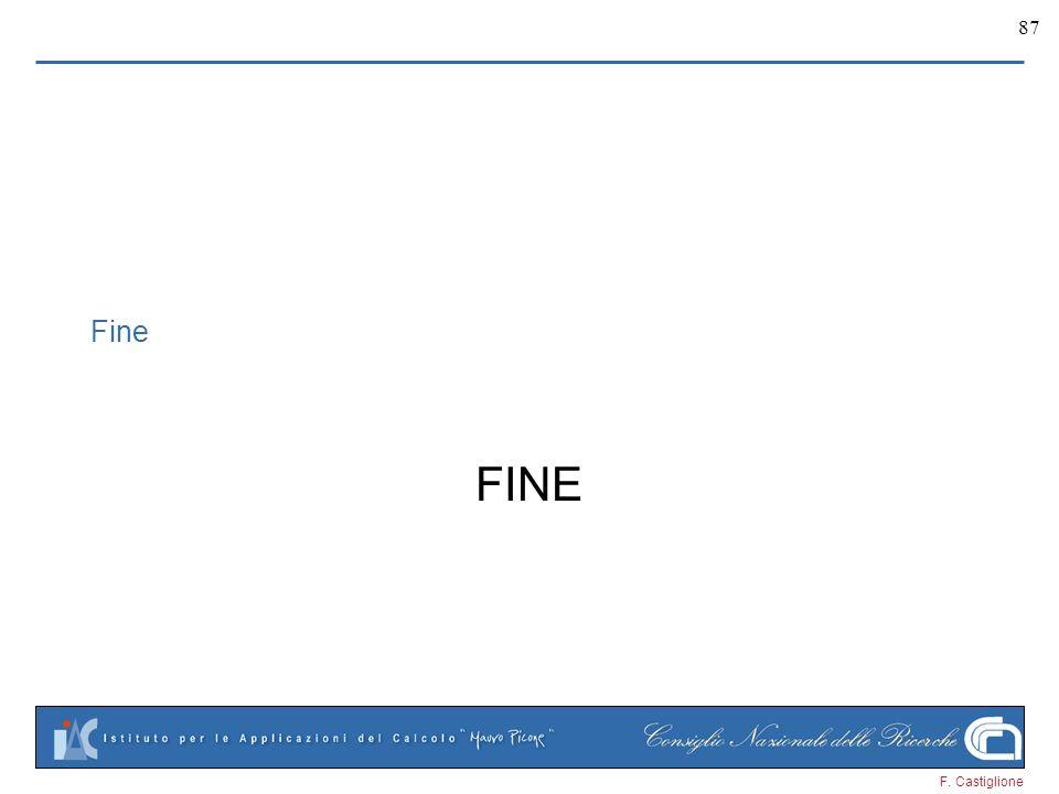 F. Castiglione 87 Fine FINE